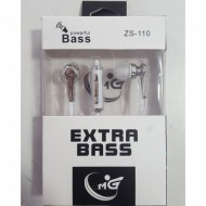 MANOS LIBRES BLANCO EXTRA BASS ZS-110 MG