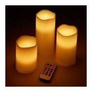 VELAS DE ORNAMENTACION LED 12 COLORES CON CONTROL