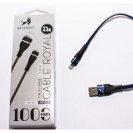 CABLE USB I-PHONE 4.8AMP 1MTS ROYALCELL