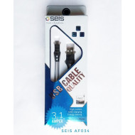 CABLE MICRO USB V8 3.1AMP COLORES FAST CHARGER SEIS