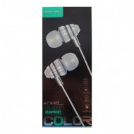 MANOS LIBRES IN-EAR ECONOMICOS BLANCO CON NEGRO BASS MUSIC BASS