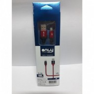 CABLE MICRO USB V8 1MTS 3.1A REFORZADO COLORES ONLY