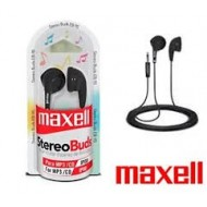AURICULAR 3.5 NEGRO STEREO BUDS EB-95 MAXELL