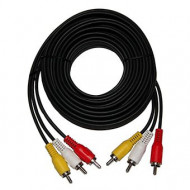 CABLE RCA M/M X 3 15MTS MYE